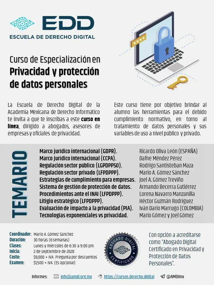 Privacidad y protección de datos personales. GDPR